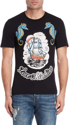 Love Moschino Ship Logo Tee