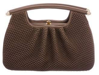 Judith Leiber Pleated Satin Handle Bag