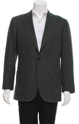 Cesare Attolini Wool & Silk-Blend Notched Lapel Blazer