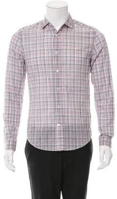 Louis Vuitton Plaid Button-Up Shirt