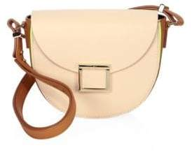 Jason Wu Jaime Colorblock Leather Saddle Bag