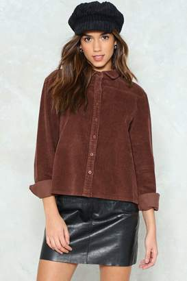Nasty Gal Cut the Corduroy Shirt