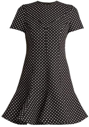 Valentino Polka Dot Wool Blend Dress - Womens - Black White