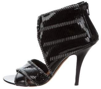 Givenchy Patent Leather Peep-Toe Booties