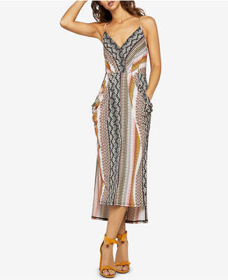 BCBGeneration Tropical Faux-Wrap Dress