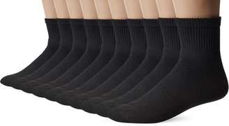 Gildan Men's Big and Tall Ankle Socks (10 Pair Pack)