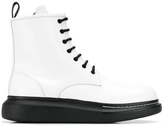Alexander McQueen chunky ankle boots