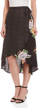 Bishop + Young Enchanted Garden Mix Media Maxi Skirt