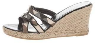 Burberry Nova Check Espadrille Sandals