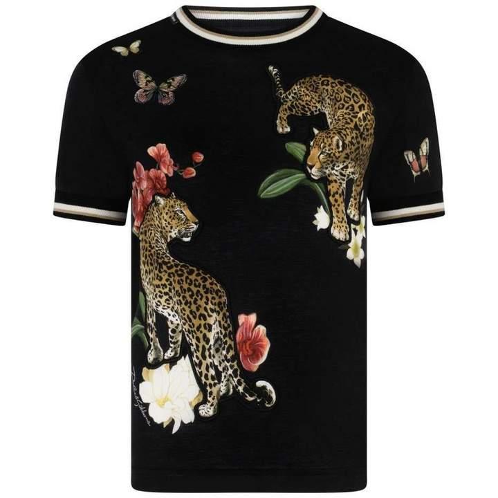 Dolce & GabbanaBoys Black Leopard Top