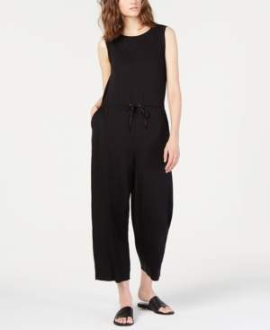 Eileen Fisher Cropped Drawstring Tencel Jumpsuit, Regular & Petite