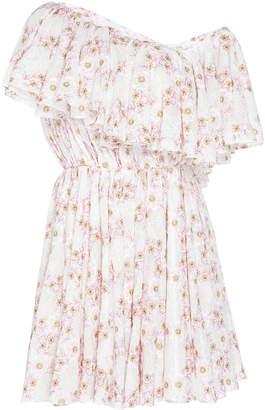 Giambattista Valli Off-The-Shoulder Printed Ruffle Dress