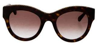 Stella McCartney Round Chain-Link Sunglasses