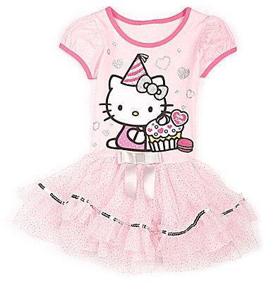 Hello Kitty 2T-6X 75th Anniversary Tutu Dress