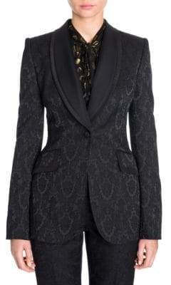Dolce & Gabbana Jacquard Shawl Collar Blazer