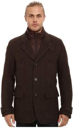Andrew Marc Albany Shadow Herringbone Blazer w/ Removable Quilted Bib Men's Coat