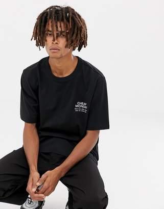 Cheap Monday Boxer T-shirt In Black
