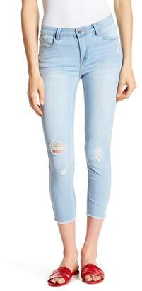 C&C California Frayed Hem Crop Skinny Jeans