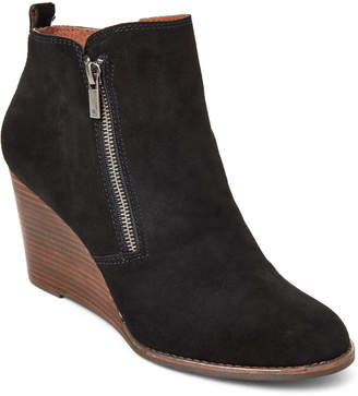Lucky Brand Black Yesterr Suede Wedge Booties