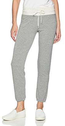 Monrow Women's Supersoft Two Toned HIGH Waist Vintage Sweat