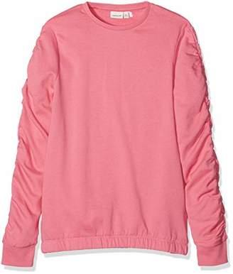 Name It Girl's Nkfmari Ls Bru Sweat Camp Sweatshirt