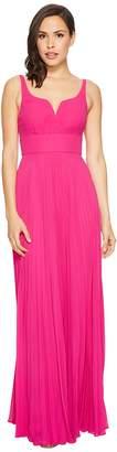 Laundry by Shelli Segal Chiffon Gown with Sunburst Pleated Skirt Women's Dress
