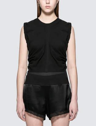Alexander Wang High Twist Jersey Crop Top With Wide Ties