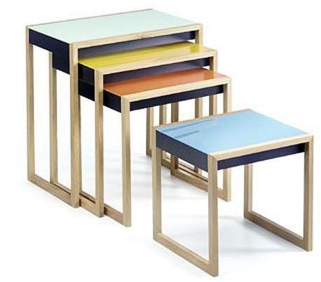 Vitra - nesting tables by josef albers by vitra