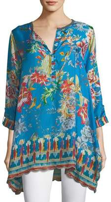 Johnny Was Mala Printed Georgette Blouse