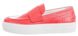 Moncler Python Slip-On Sneakers Coral Python Slip-On Sneakers