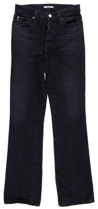 ALEXACHUNG x AG Straight-Leg Mid-Rise Jeans