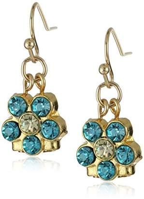 clear 1928 Jewelry Gold-Tone Petite Flower Drop Earrings