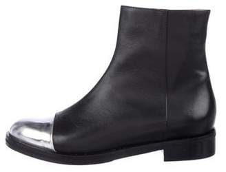 Leonardo Principe Leather Cap-Toe Ankle Boots