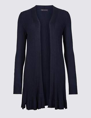 Marks and Spencer Textured Long Sleeve Longline Cardigan