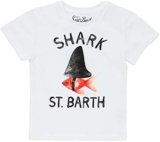 MC2 Saint Barth Shark St. Barth Print Jersey T-Shirt