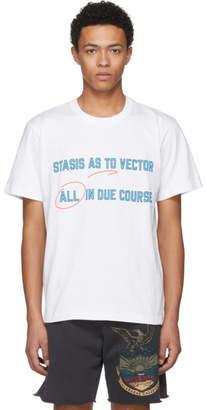 Sacai White Stasis As To Vector T-Shirt