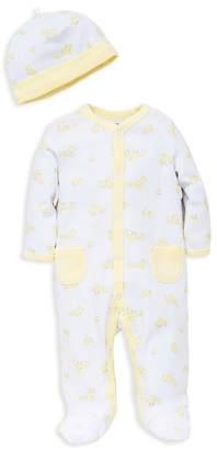Little Me Unisex Duck Print Footie & Hat Set - Baby