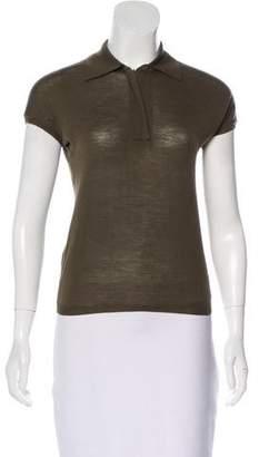 Calvin Klein Collection Wool Polo Top
