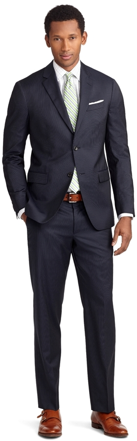 Brooks Brothers Milano Fit Mini Bead Stripe 1818 Suit