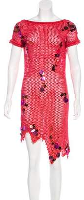Christian Lacroix Metallic Knit Dress w/ Tags