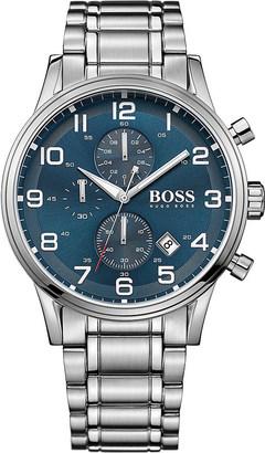 HUGO BOSS 1513183 aeroliner stainless steel watch $370 thestylecure.com
