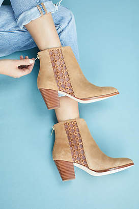 Anthropologie Embroidered Booties