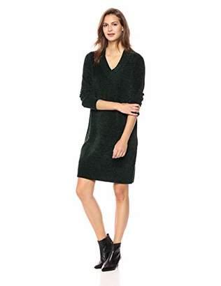 Nine West Women's Long Sleeve V Neck Sweater Dress