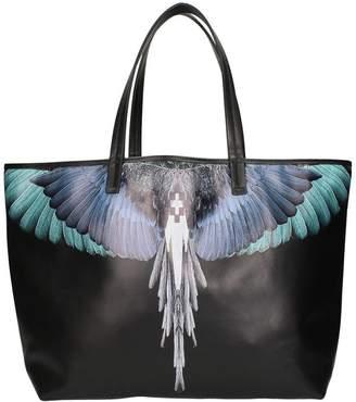 Marcelo Burlon County of Milan Wings Black Leather Tote Bag