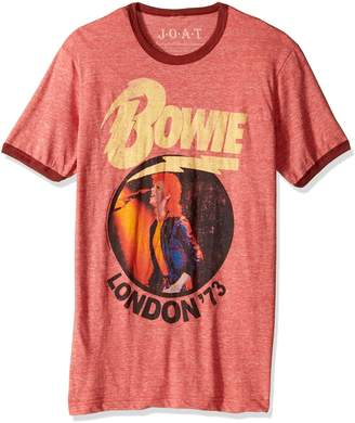 Blend of America Jack Of All Trades Men's David Bowie Vintage London '73 Tri Ringer T-Shirt