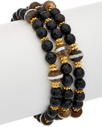 Rachel Reinhardt 14K Plated Boho Stretch Bracelet