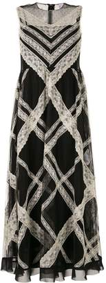 RED Valentino lace panels long dress