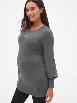 Gap Maternity Lattice Cable-Knit Sweater Tunic