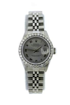 Rolex Vintage Lady DateJust 26mm Grey Silver Watches