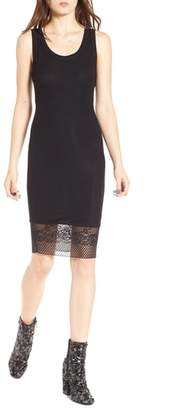 KENDALL + KYLIE Lace Hem Tank Dress